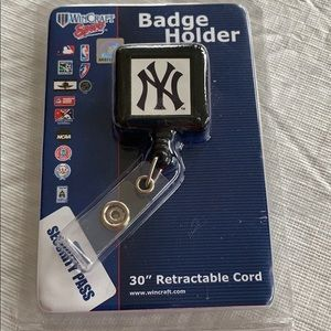NY Yankees Badge Holder